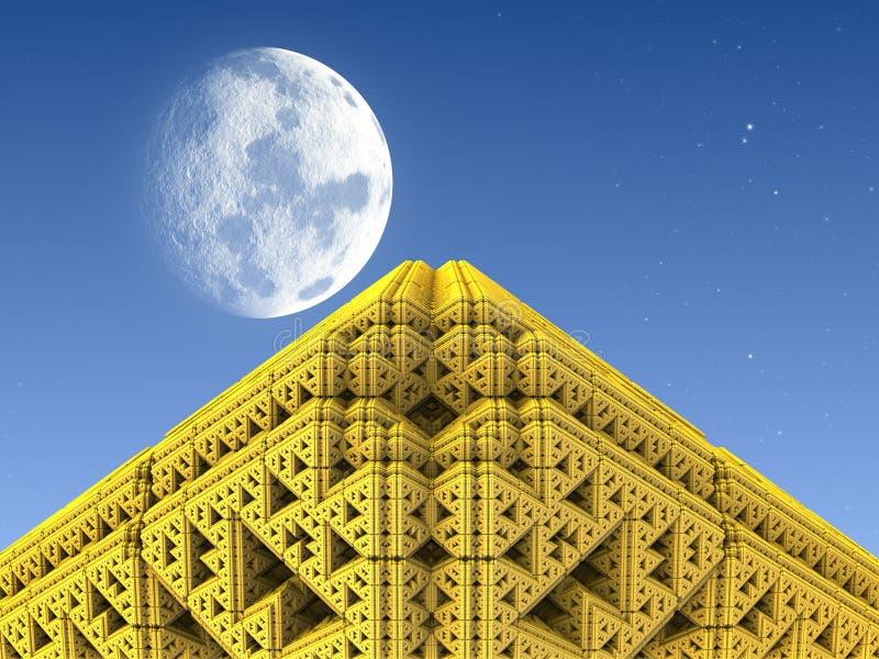 Pyramide d'or illustration libre de droits
