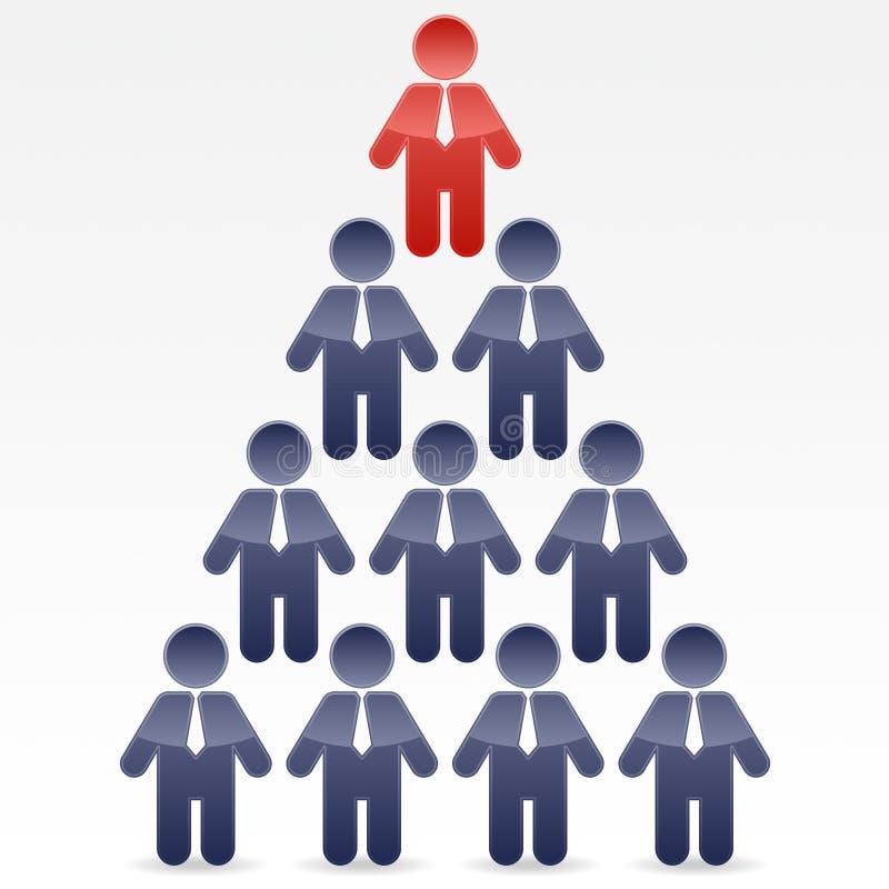Pyramide d'affaires illustration de vecteur
