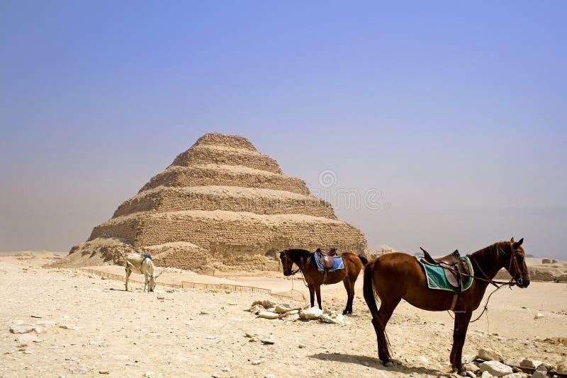 Pyramide d'opération de Djoser photographie stock