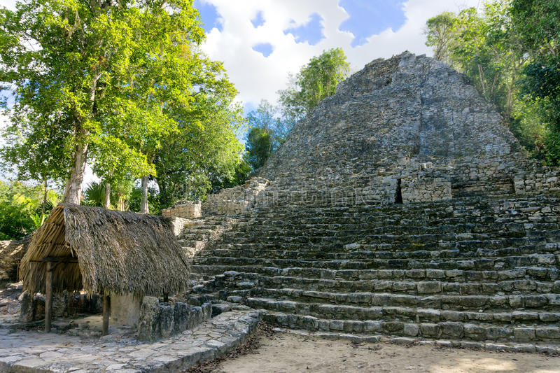 Pyramide dans Coba, Mexique photographie stock