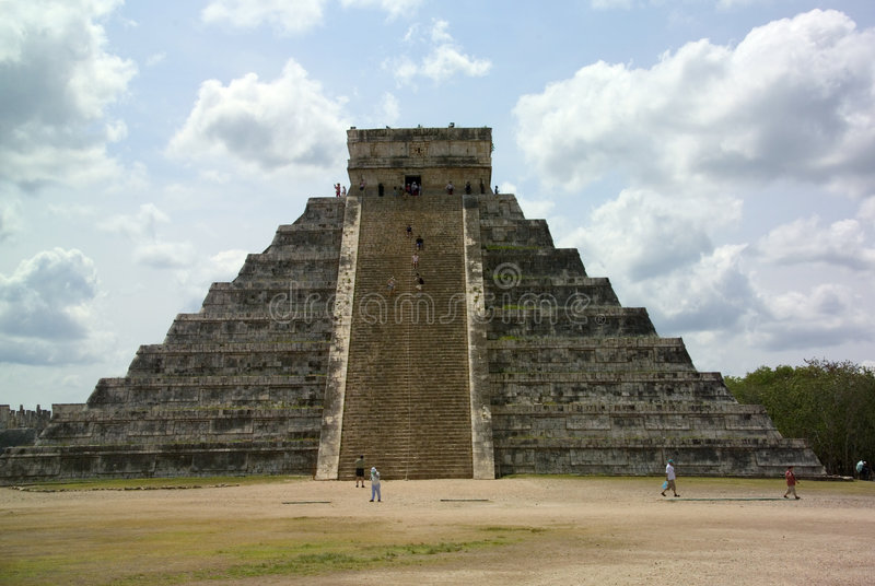 Pyramide Dans Le Yucatan Image libre de droits