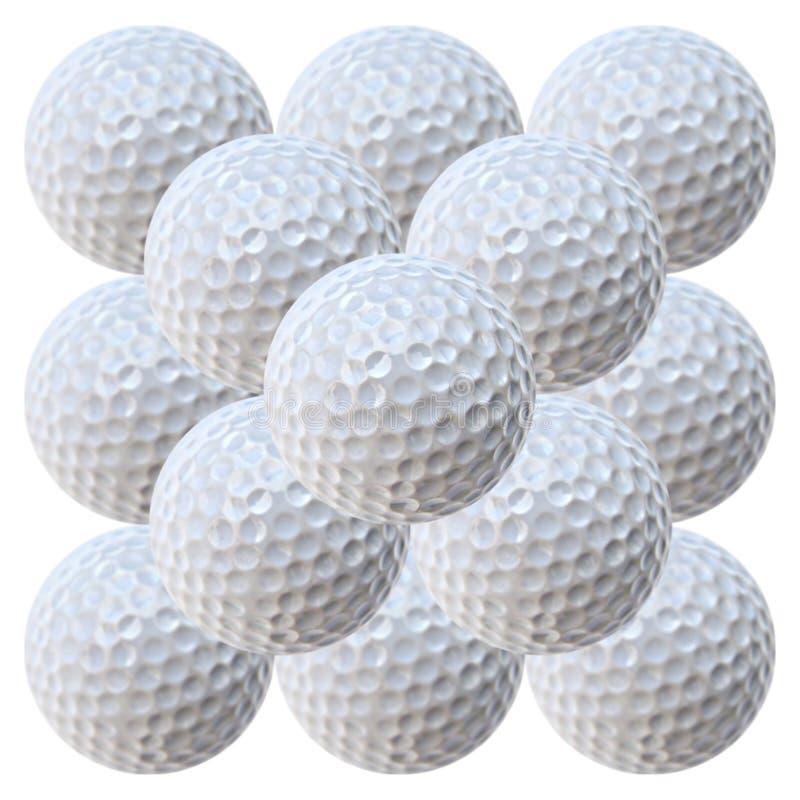 Pyramide de billes de golf (MegaPixels 20.2) photo libre de droits