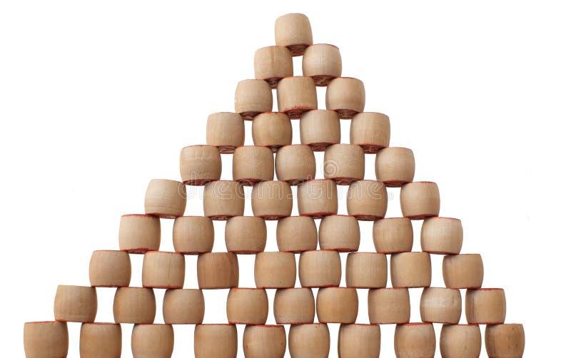 Pyramide de bingo-test photo stock