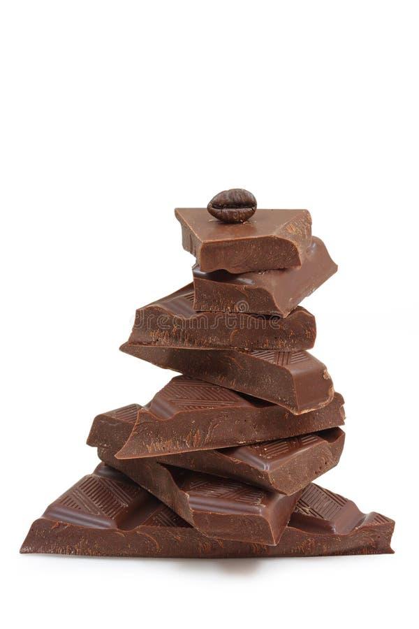Pyramide de chocolat photographie stock