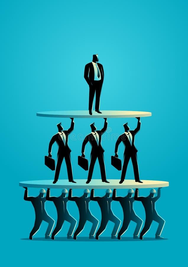 Pyramide de classe de travail illustration libre de droits