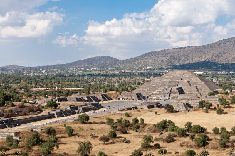 Pyramide de la lune, Teotihuacan photos libres de droits