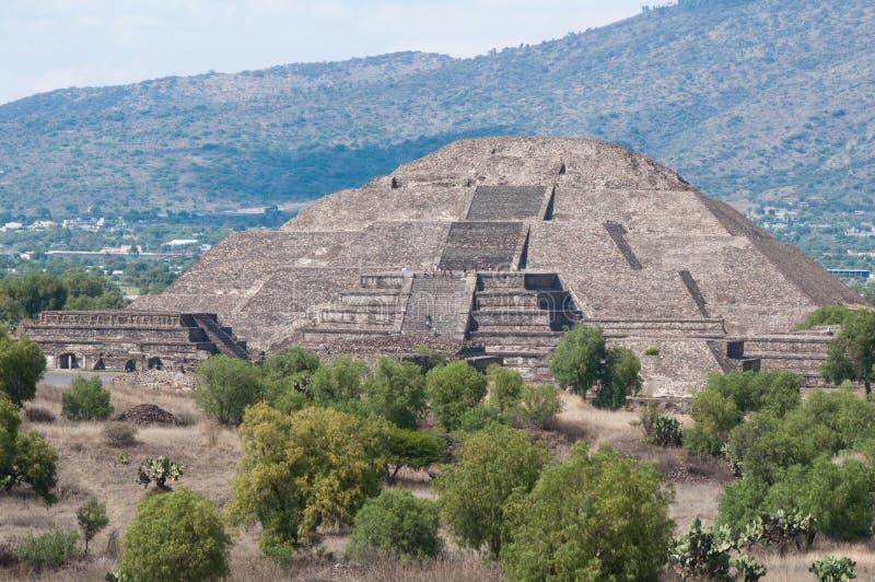Pyramide de la lune, Teotihuacan (Mexique) images libres de droits