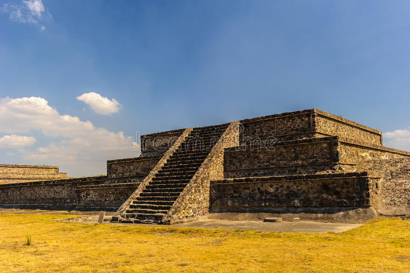 Pyramide de la lune, Teotihuacan, Mexique photographie stock
