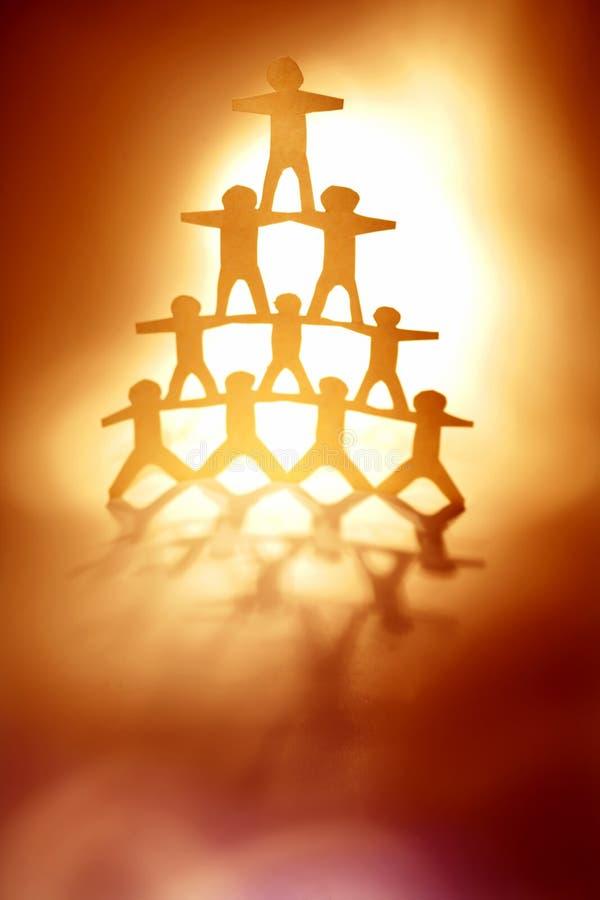 Pyramide de papier de poupée photo libre de droits