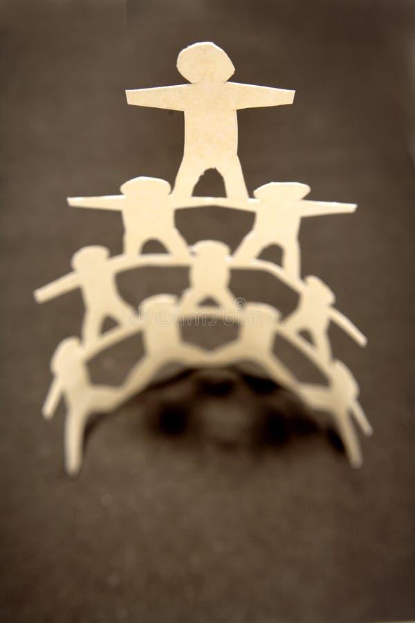 Pyramide de papier de poupée images libres de droits