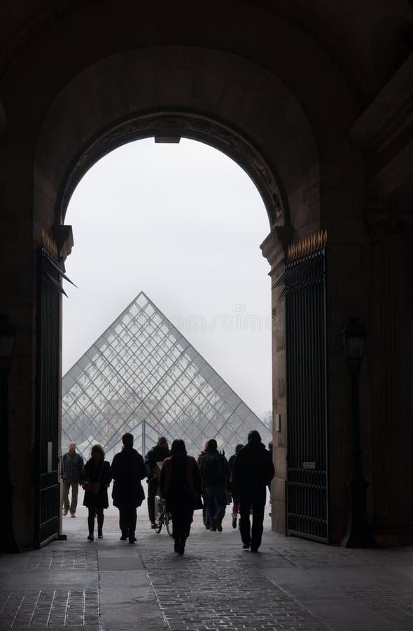 Pyramide de passage arqué et d'auvent images libres de droits