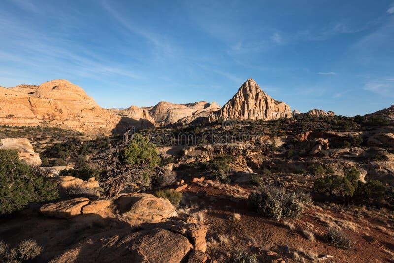 Pyramide de Pectols - parc national Utah de récif capital photos libres de droits