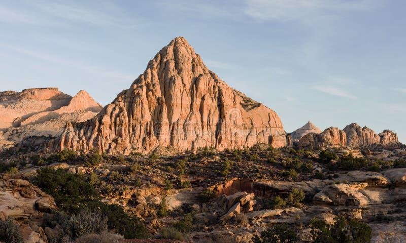 Pyramide de Pectols - parc national Utah de r?cif capital photo stock
