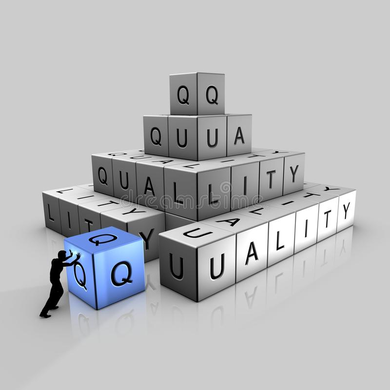 Pyramide de qualité illustration de vecteur