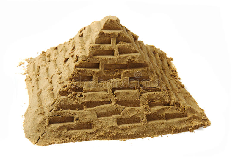 Pyramide de sable images stock