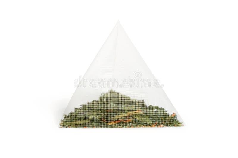 Pyramide de sachet à thé d'isolement photo libre de droits