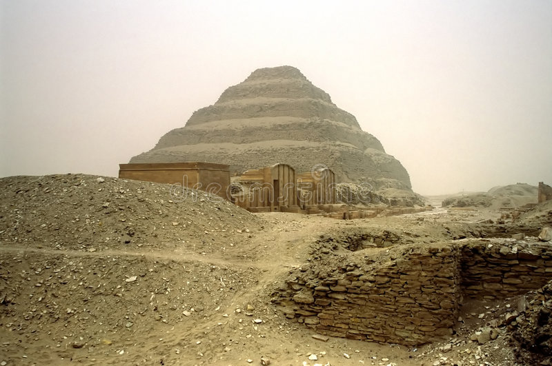 Pyramide de Saqqara, Egypte. photos stock