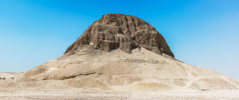 Pyramide de Senusret II images stock