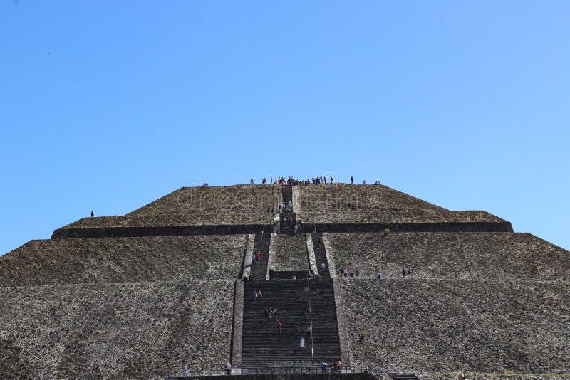 Pyramide de Sun dans Teotihuacan, Mexico photo libre de droits