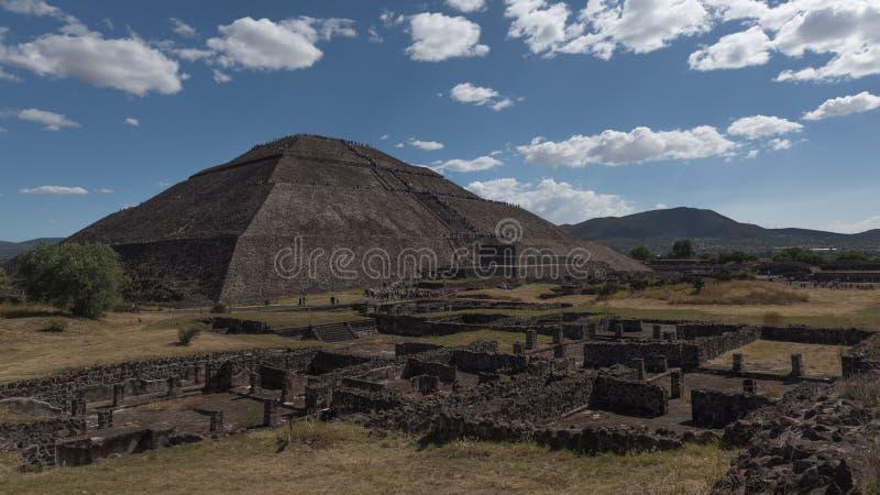 Pyramide de Sun dans Teotihuacan, Mexique photo libre de droits