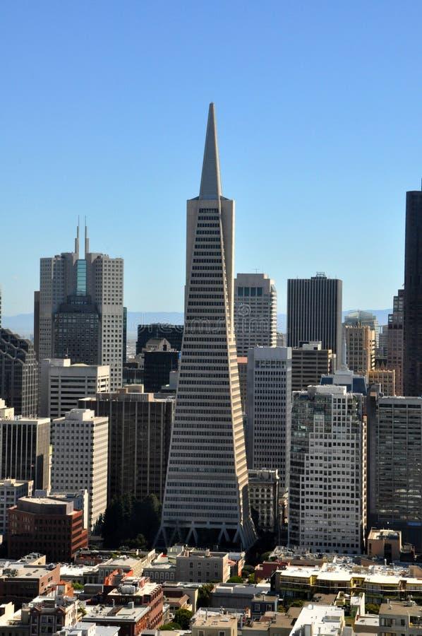 Pyramide de Transamerica dans le secteur financier de San Francisco photographie stock