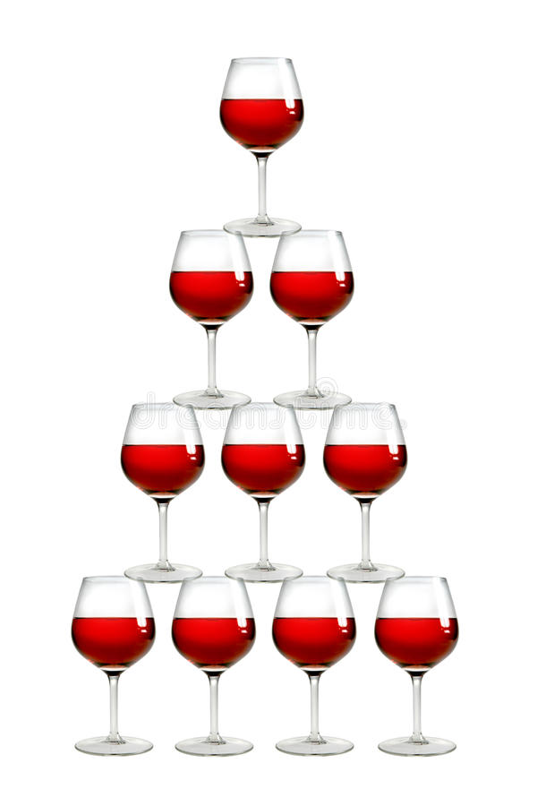 Pyramide de vin photographie stock