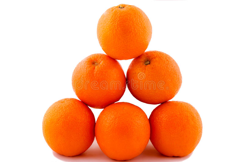 Pyramide degli aranci fotografie stock