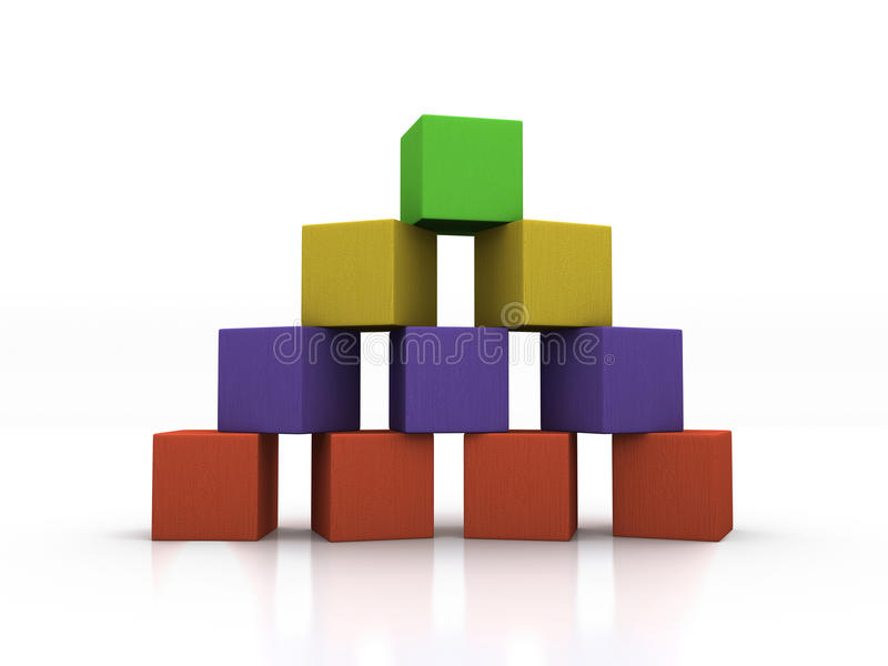 Pyramide der Blöcke lizenzfreie stockfotografie