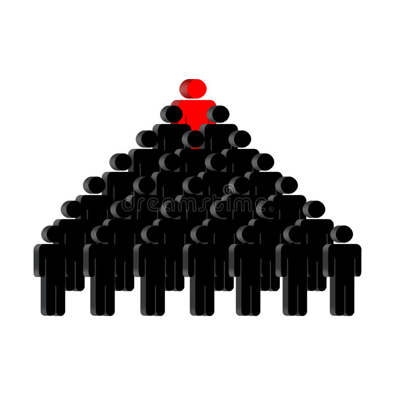 Pyramide der Leute stock abbildung