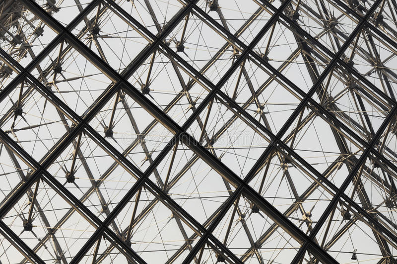 Pyramide des Louvre, Paris, Franca lizenzfreie stockfotos