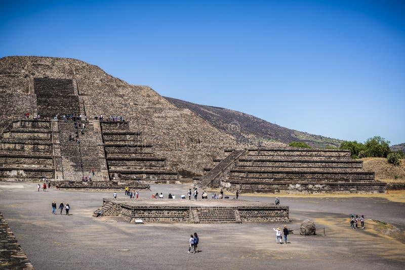 Pyramide des Mondes Teotihuacan, Mexiko City, Mexiko lizenzfreies stockbild