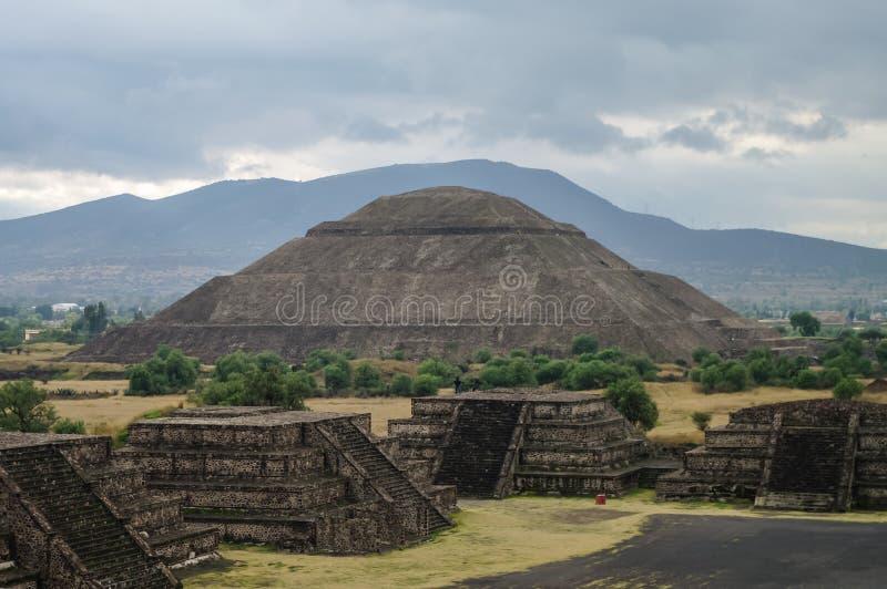 Pyramide des Sun teotihuacan stockbild