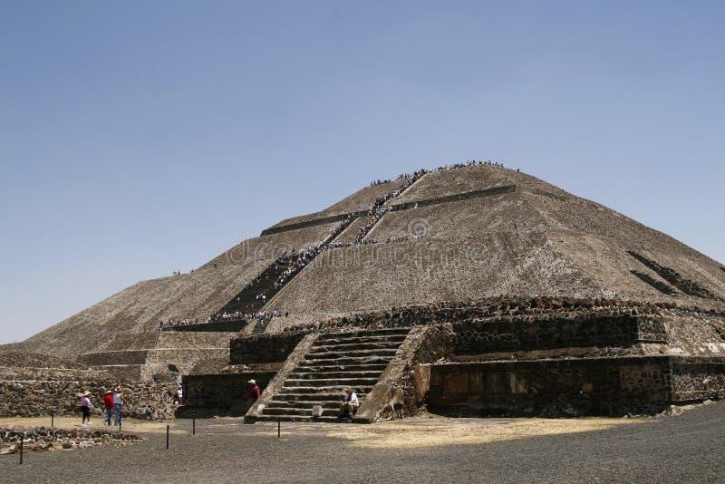 ?Pyramide des Sun? in Teotihuacan, Mexiko lizenzfreie stockfotos
