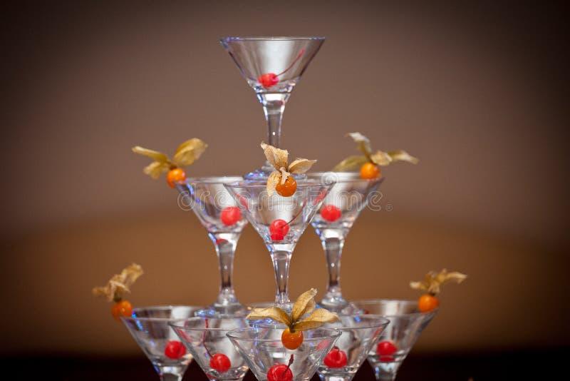 Pyramide des verres photographie stock libre de droits