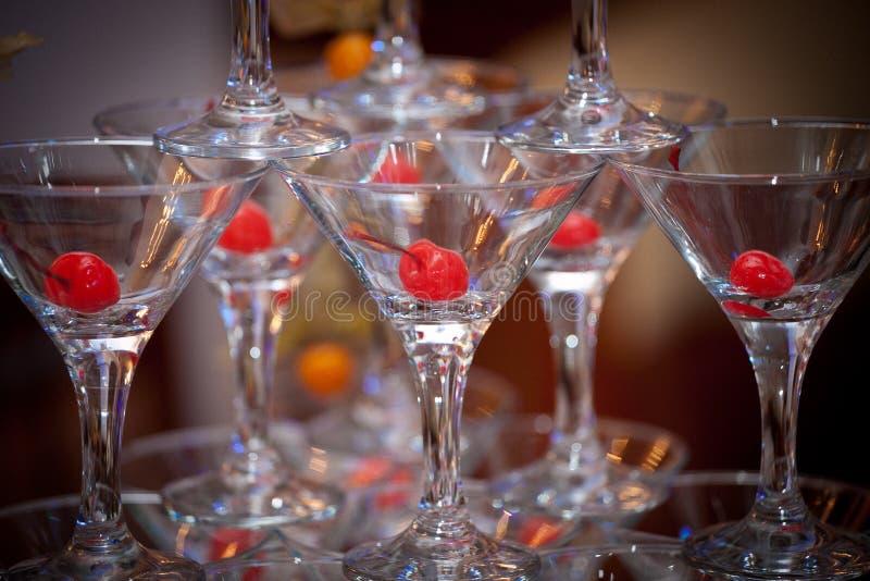 Pyramide des verres image libre de droits