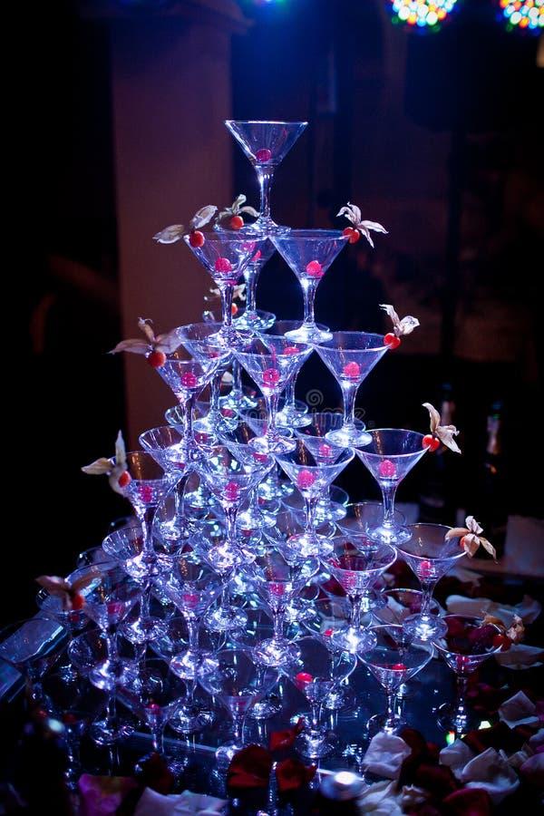 Pyramide des verres images libres de droits