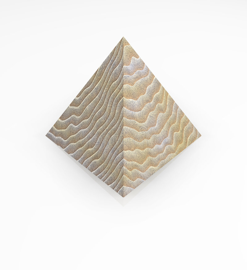 Pyramide en bois d'isolement 3D images stock