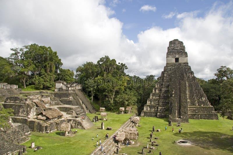 Pyramide et ruines de jaguar photos libres de droits