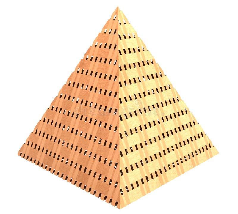 Pyramide faite de bois 3d illustration libre de droits