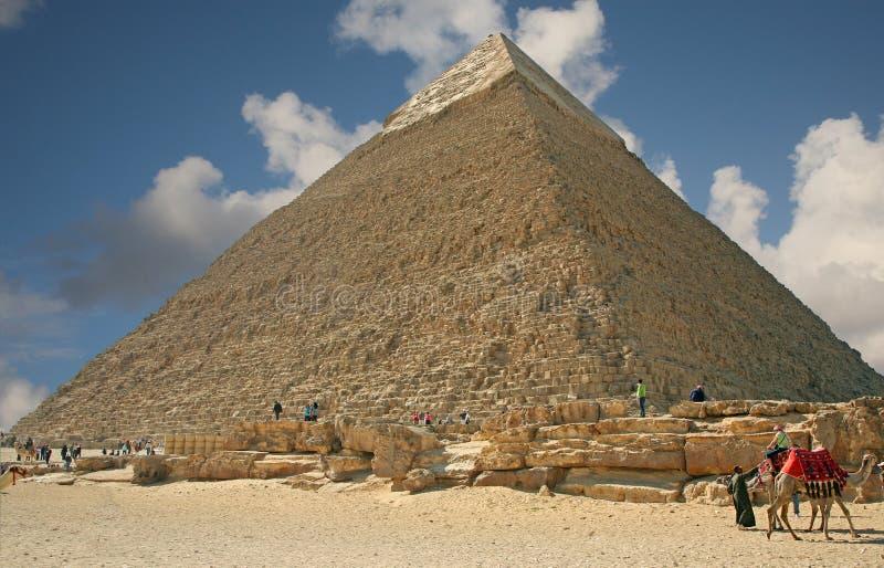 Pyramide in Giza lizenzfreies stockbild