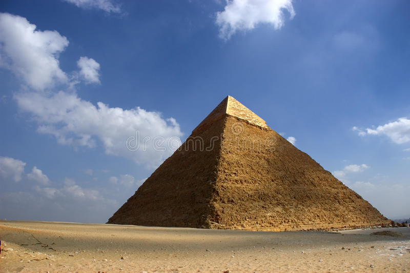 Pyramide grande de Cheops Giza Egypte antique, course photographie stock