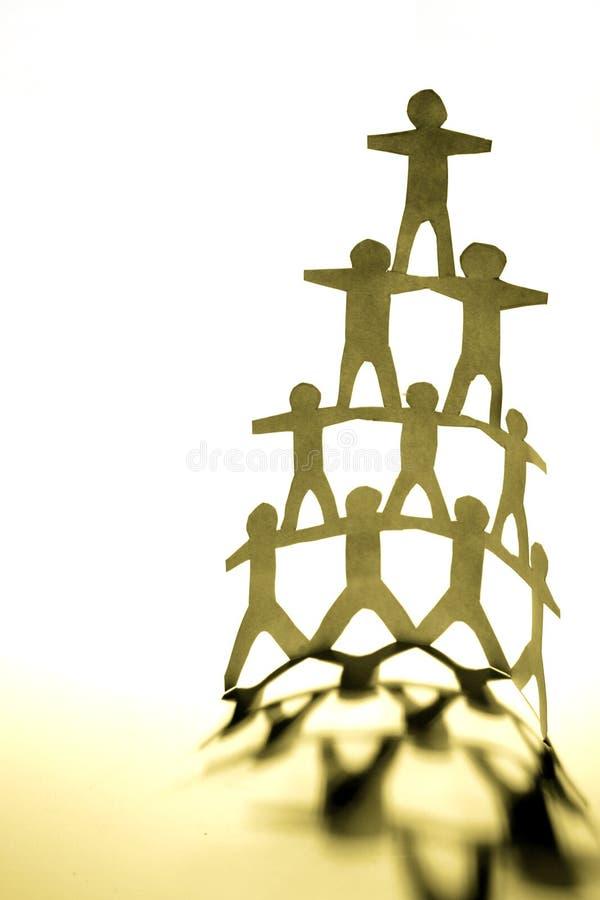pyramide humaine photos libres de droits