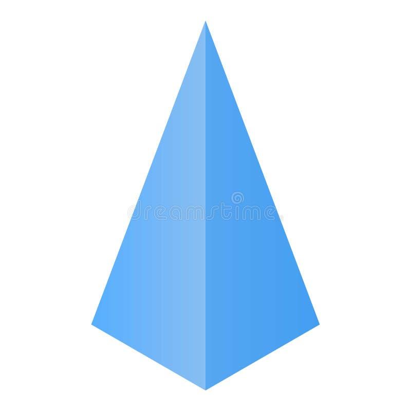 Pyramide ikona, isometric styl ilustracja wektor