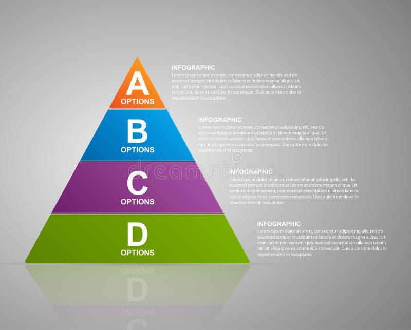 Pyramide infographic de vecteur Calibre de web design illustration stock