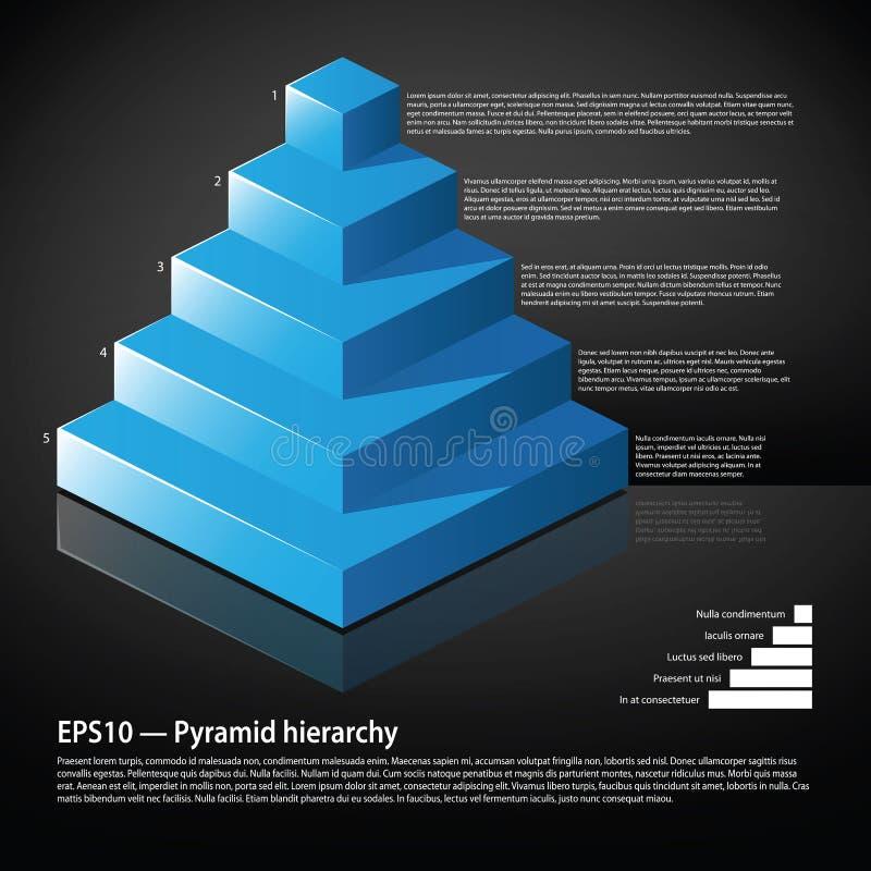 Pyramide isométrique bleue avec le texte à chaque niveau illustration libre de droits