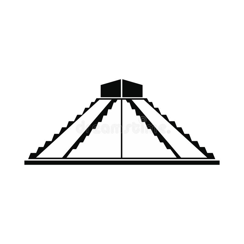 Pyramide maya icône dans Yucatan, Mexique illustration de vecteur