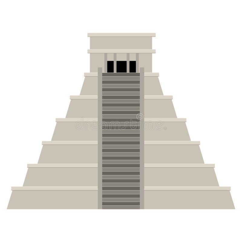 Pyramide mexicaine d'isolement illustration libre de droits