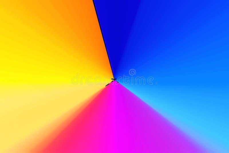 Pyramide mit drei Farben stock abbildung
