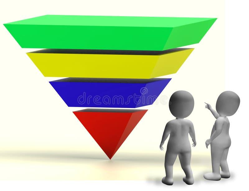 Pyramide mit hohen Pfeilen und Copyspace, das Wachstum oder Fortschritt zeigt vektor abbildung