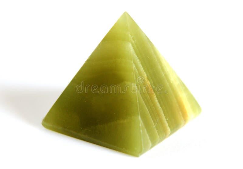 Pyramide naturelle d'onyx photo stock